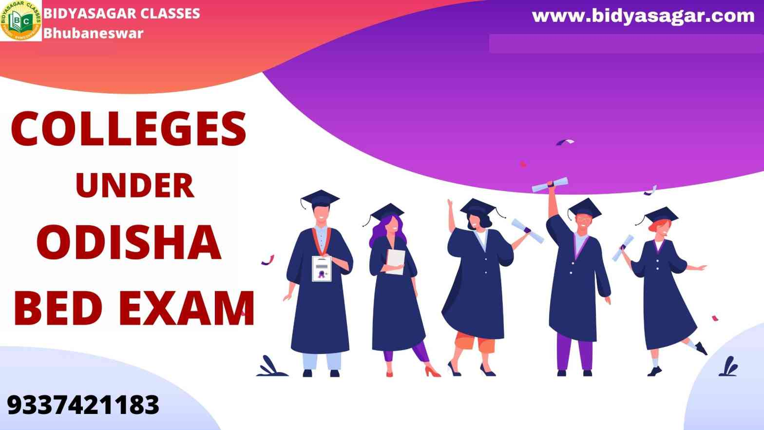 Colleges Under Odisha State B.Ed Entrance 2021 Exam