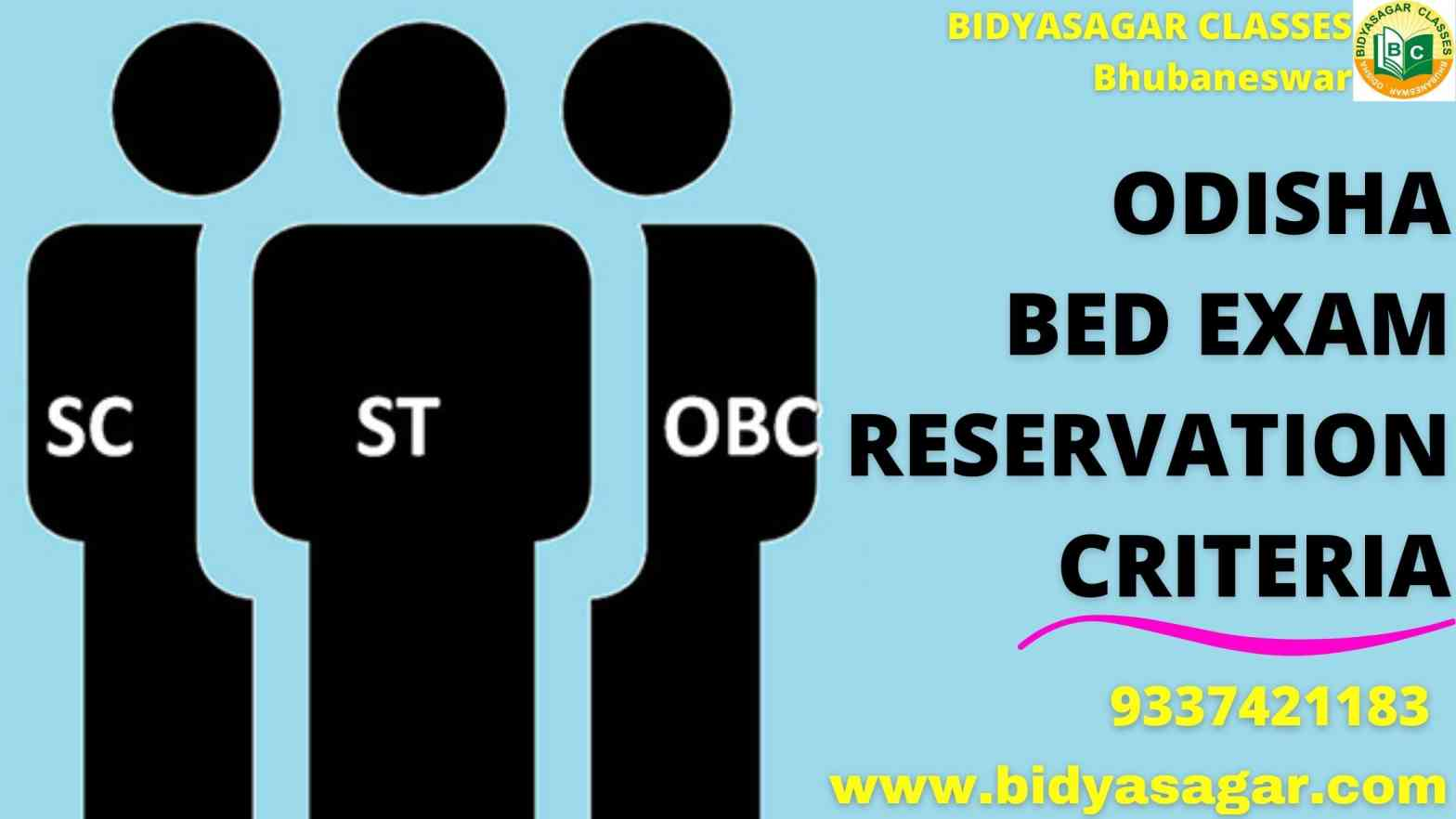 Odisha State B.Ed Entrance 2021 Exam Reservation Criteria